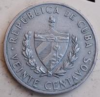Kubai 20  Centavos 1962.