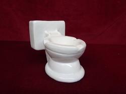 Német porcelán WC hamutál, vicces termék. 15 cm széles, 10,5 cm magas.