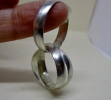 Különleges 3db-os  ezüst karika gyűrű egymásba forrasztva