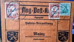 Légiposta/Airmail   Rhein und Main 1912