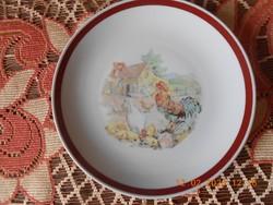 Kahla német porcelán, mese mintás, gyerek lapos tányér