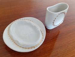 Retro Alföldi porcelán cigis készlet dohánytartó hamutartó 2 db