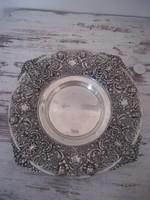 Antik spanyol ezüst tál