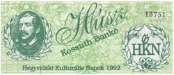 Hegyvidéki Kultúrális Napok 1992 - 20 Kossuth Bankó