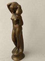 Tömör réz szobor 14 cm