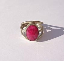 Rubin köves gyűrű