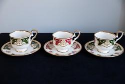 Royal Duke angol porcelán csésze alátét tányérral 3 darab