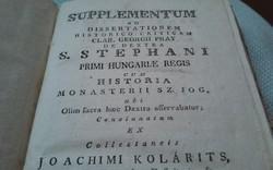 RITKASÁG!  SZENT ISTVÁN könyv 1797-ből !!!!