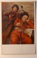 Üdvözlőlap, 1910-es évek: Jászai: Kurucnóta. Az Országos Anya és Csecsemővédő Egyesület kiadása