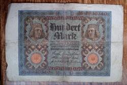 Gyengébb Inflációs 100 márka 1930.bankjegy