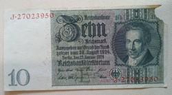 Gyengébb Inflációs 10 márka 1919.bankjegy