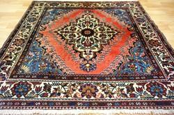 Csodás kézi perzsa Ghom perzsa ritka négyzet alakú szőnyeg 145x145 m