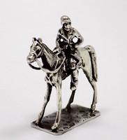 Ezüst lovas miniatűr (ZAL-BI39054)