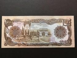 Afganisztán 1000 Afghanis UNC 1991