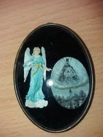 Antik Szent Kép Réz Keretben