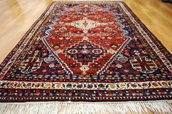 Csodás kézi perzsa szőnyeg Schiraz Gaschgai  183x124 cm