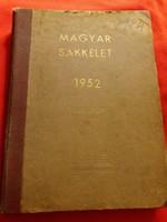 1952 A Magyar Sakkélet szakfolyóiratok egybekötve