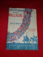 Antik Arany János Balladái 1933  Zichy Mihály fénynyomataival