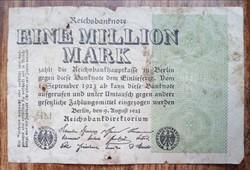 Gyengébb Inflációs 1 millió márka 1923.bankjegy