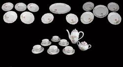 27 Részes Pajzspecsétes Zsolnay étkészlet és teás készlet azonos ritka rózsa mintával /GP4008/