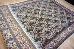 Megkíélt hatalmas  Kirman kézi szőnyeg Tabriz Nain Ghom 345x235 cm