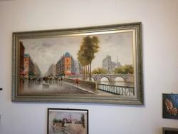Párizs ,Utcai életkép  a Notre Dame-val