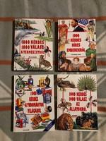 1000 kérdés 1000 válasz sorozatból 4 db könyv