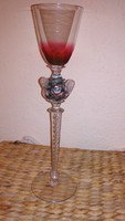 Üveg pohár, magas talpú (30 cm)