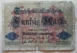 Gyengébb Inflációs 50 márka 1914 .bankjegy