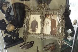 Antik 100db vas kisplasztika öntöttvas gyűjtemény szobor hamutartó gyertyarartó kalamáris kályha