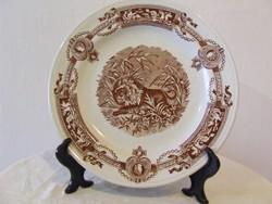 Antik Ironstone T.C.B. jelentes tányér