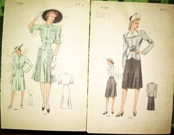 4 db art deco Atelier Sogra divatrajz cca 1942