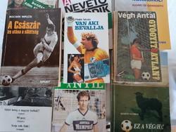 Legendás focis könyvek-ritkaságok-9db