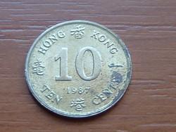 HONG KONG 10 CENT 1987 #