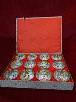 Vintage Hand festett és aláírt 12 darabos japán zodiac saki kupica szett.