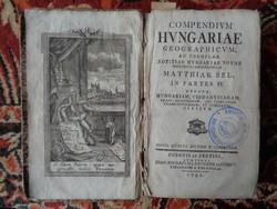 BÉL MÁTYÁS: Compendium Hungariae geographicum
