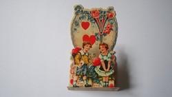 """VALENTIN NAP térhatású üdvözlő kártya, """"3D"""" Germany 1930 (03)"""