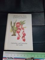 Német nyelvű idézetes kis könyv.Virágok és....