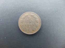 4 krajcár 1861 B
