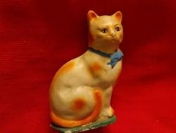 Antik népi kerámia persely a múlt század elejéről  Macska cica figura  15 X 11 cm 1