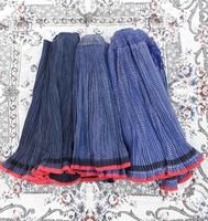 Ráncolt rakott kékfestő szoknya csomag (3 db) - népi paraszti népviseleti ruhadarabok