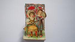 """VALENTIN NAP térhatású üdvözlő kártya, """"3D"""" Germany 1930 (02)"""