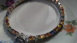 Színes zafír 925 karkötő