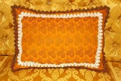 Gyönyörű selyembrokát párna.48x35 cm