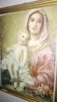 Kunffy Lajos - Madonna gyermkével ? - olajfestmény- nagyméretű- 1 forintról.