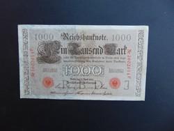 1000 márka 1910 Németország piros pecsét  02