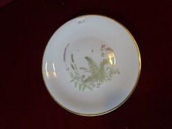 HC bavaria német porcelán süteményes tányér páfrány mintával, átmérője 19,5 cm.