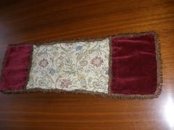Antik selyem-bársony terítő