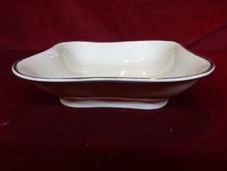 MC német antik porcelán köretes tál, platina szegéllyel.