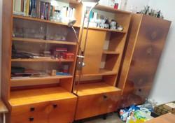 Komplett szobabútor, szekrénysor '50-'60-as évek